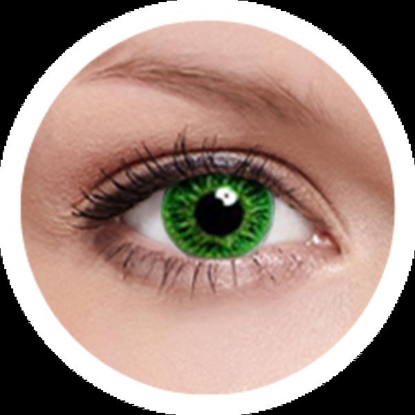 FreshKon Colors Fusion - Cool Green (2 čočky měsíční) - nedioptrické