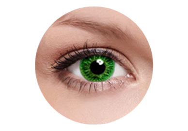 FreshKon Colors Fusion - Cool Green (2 čočky měsíční) - dioptrické