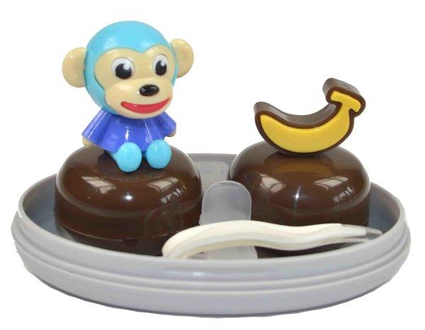 Pouzdro sestava opice - modrá