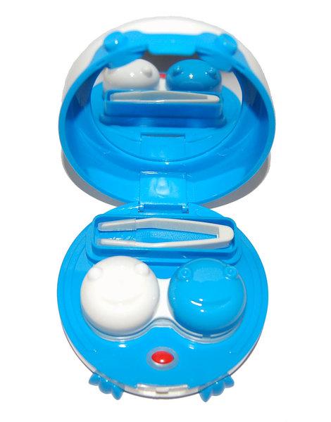 Vibrační pouzdro kulaté s nožičkami - Modré