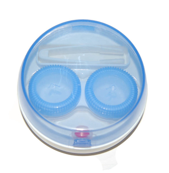 Vibrační pouzdro kulaté - Modré průhledné