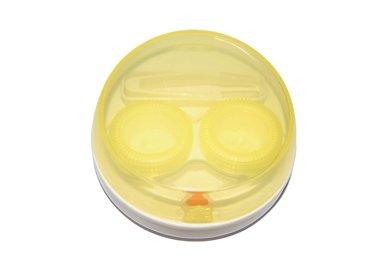 Vibrační pouzdro kulaté - Žluté průhledné