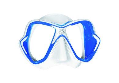 Maska MARES X-Vision LiquidSkin bílo-modrá