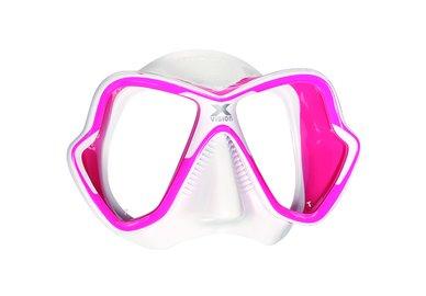 Maska MARES X-Vision LiquidSkin bílo-růžová
