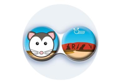 Anti-bakteriální pouzdro klasické - Austrálie - Myš