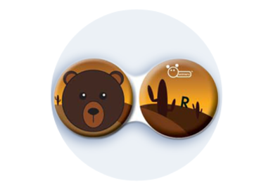 Anti-bakteriální pouzdro klasické - Divočina - Medvěd hnědý