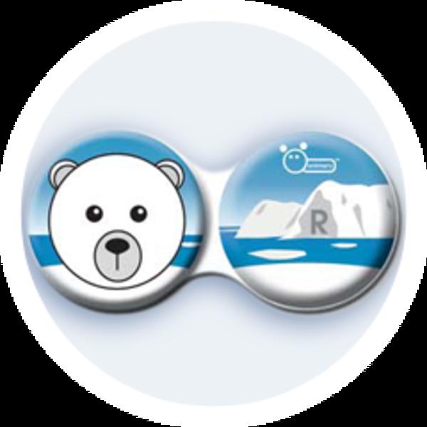 Anti-bakteriální pouzdro klasické - Sever - Lední medvěd