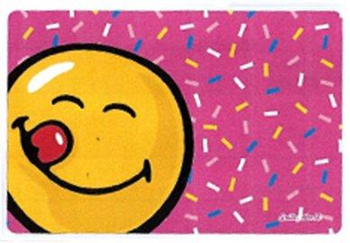 Hadřík na brýle z mikrovlákna Smiley - růžové