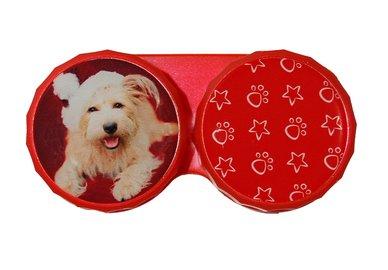 Klasické pouzdro motiv Vánoce - Pes s čepicí v červeném
