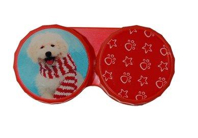 Klasické pouzdro motiv Vánoce - Pes s šálou