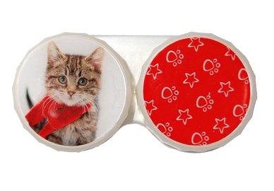 Klasické pouzdro motiv Vánoce - Kočka žíhaná s šálou