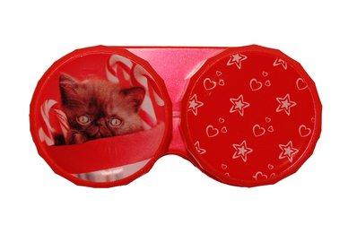Klasické pouzdro motiv Vánoce - Kotě v cukroví