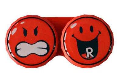Klasické pouzdro motiv Smiley - Červené