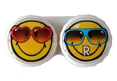 Klasické pouzdro motiv Smiley - Brýle