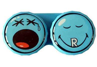 Klasické pouzdro motiv Smiley - Modré