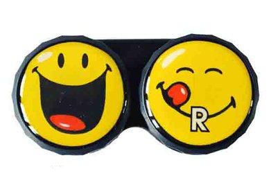 Klasické pouzdro motiv Smiley - Žluté