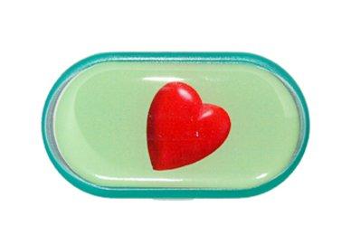 Pouzdro se zrcátkem Jednoobrázkové - Srdce
