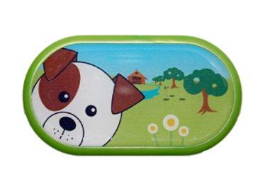 Ozdobné pouzdro se zrcátkem Farma - Pes
