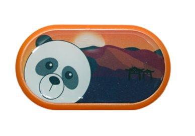 Ozdobné pouzdro se zrcátkem Indie - Panda