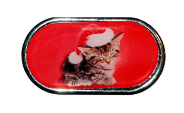 Pouzdro se zrcátkem Vánoční motiv - Kotě v čepici