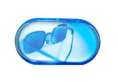 Pouzdro se zrcátkem motiv Léto - Modré brýle
