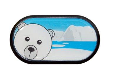 Ozdobné pouzdro se zrcátkem Sever - Lední Medvěd
