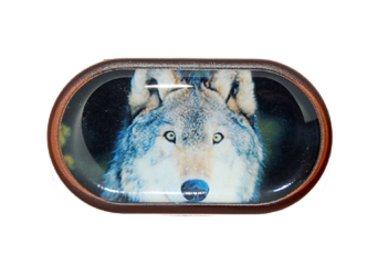 Pouzdro se zrcátkem Divoká zvířata - Vlk
