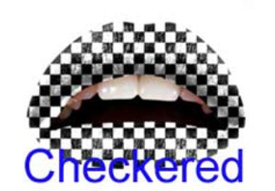 Samolepka na rty - Checkered