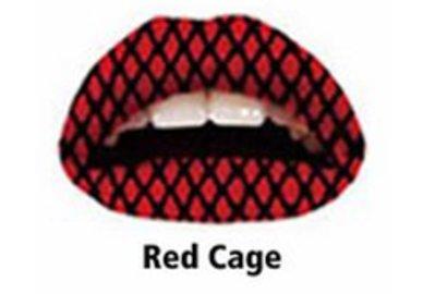Samolepka na rty - Red Cage