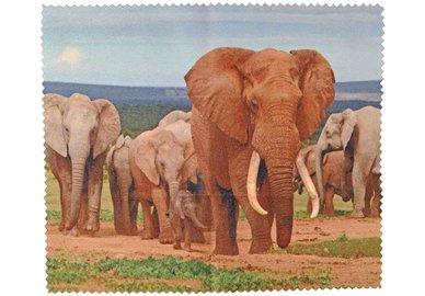 Hadřík na brýle z mikrovlákna - Sloni