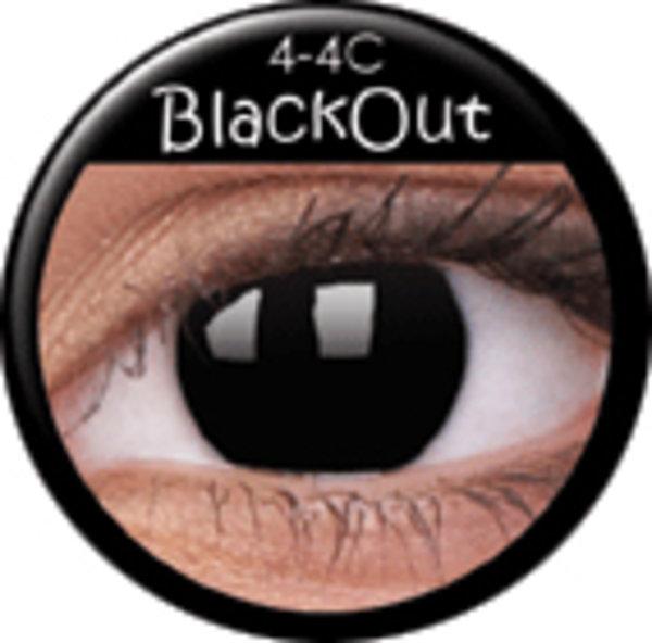 ColourVue Crazy čočky - Blackout (2 ks roční) - nedioptrické - výprodej 12/2017