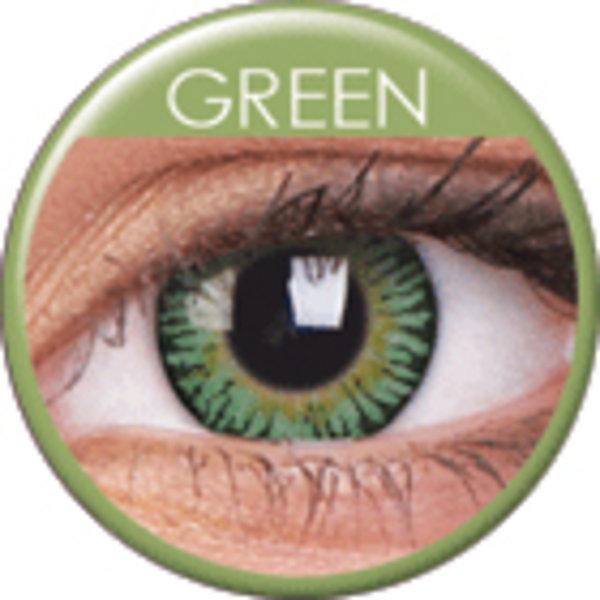 ColourVue 3 Tones - Green (2 čočky tříměsíční) - nedioptrické