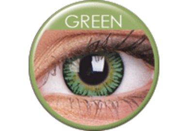 ColourVue 3 Tones - Green (2 čočky tříměsíční) - nedioptrické - poškozený obal