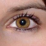 Basic honey v detailu na původní barvě očí hnědo-zelené