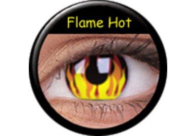 ColourVue Crazy čočky - Flame Hot (2 ks roční) - nedioptrické-poškozený obal