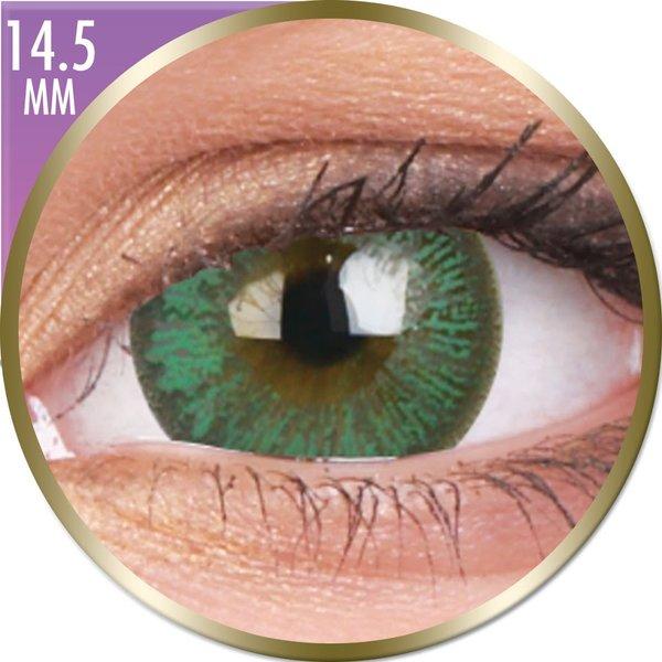 Phantasee Big Eyes - Paris Green (2 ks měsíční) nedioptrické