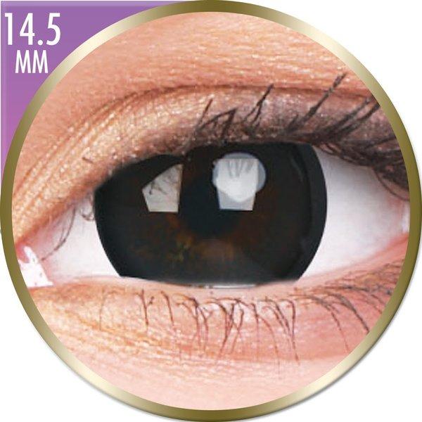 Phantasee Big Eyes - Brilliant Black (2 čočky měsíční) - dioptrické- poškozený obal