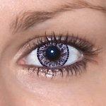 Elegance pink v detailu na původní barvě očí hnědé