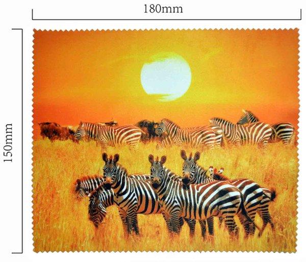 Hadřík na brýle z mikrovlákna- motiv zebry