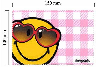 Hadřík na brýle z mikrovlákna Smiley - červené brýle