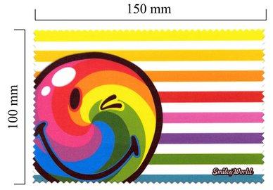Hadřík na brýle z mikrovlákna Smiley - duha