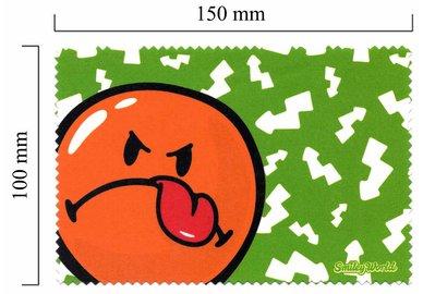 Hadřík na brýle z mikrovlákna Smiley - zelené