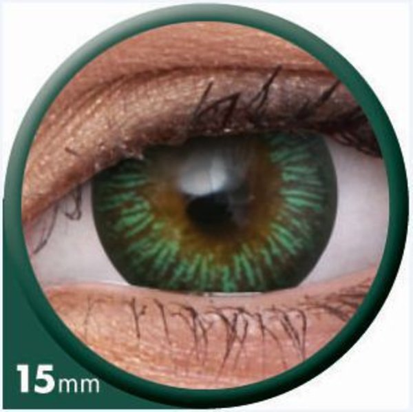 ColourVue Big Eyes - Enchanter Green (2 čočky tříměsíční) - nedioptrické