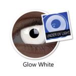 ColourVue Crazy čočky UV svítící -  Glow White (Magic)  (2 ks roční) - nedioptrické