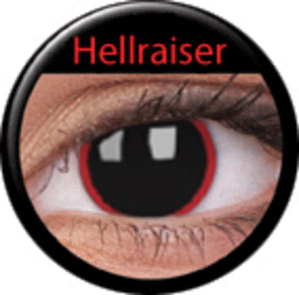 ColourVue CRAZY ČOČKY - Hell Raiser (2 ks tříměsíční) - dioptrické - exp.02/2020