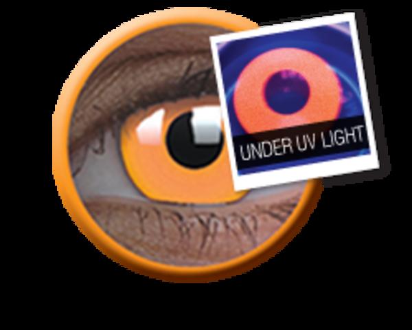 ColourVue Crazy čočky UV svítící - Glow Orange (2 ks roční) - nedioptrické - exp.04/2020