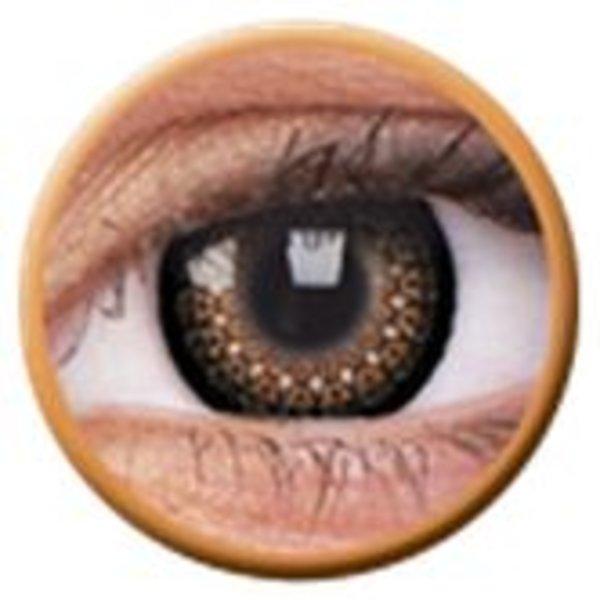 ColourVue Eyelush - Brown (2 čočky tříměsíční) - nedioptrické